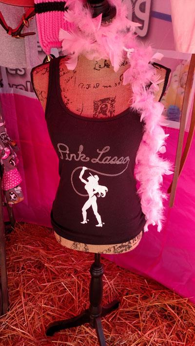 pink lasso logo tank top