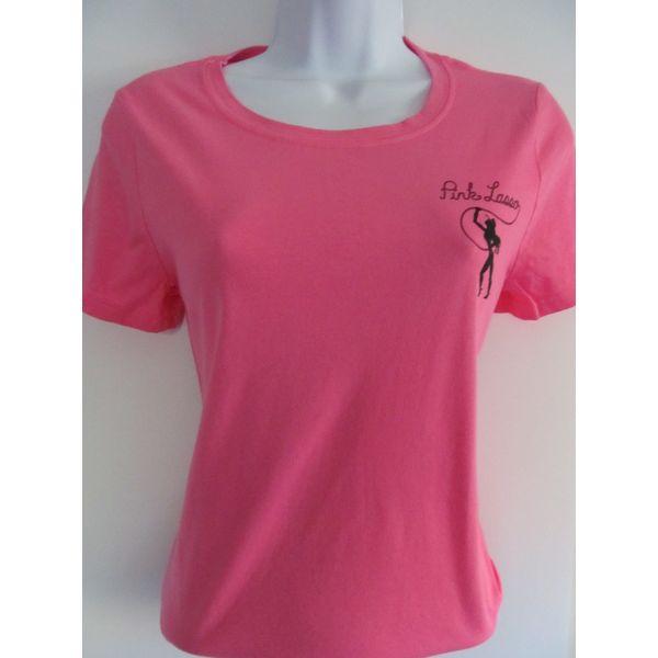 pink scoop neck