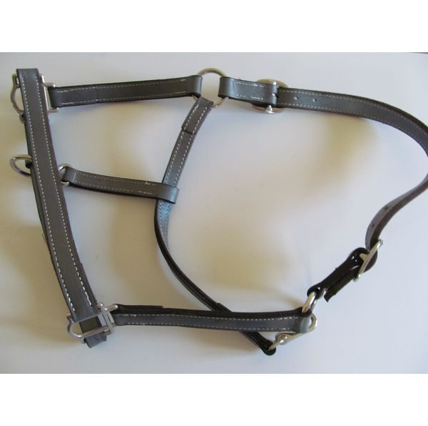 Grey Leather Halter