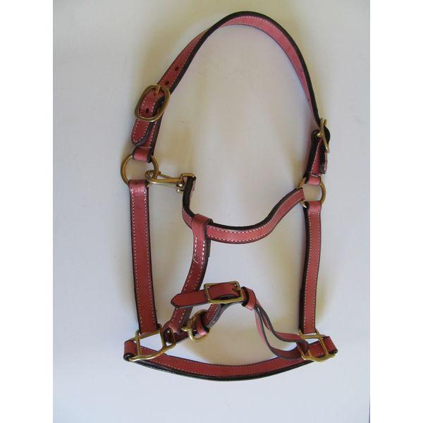 pink leather halter